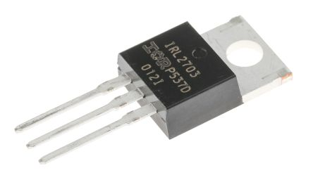 Infineon N-Channel MOSFET, 24 A, 30 V, 3-Pin TO-220AB  IRL2703PBF