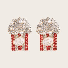 Popcorn Design Stud Earrings