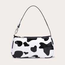 Bolsa bandolera con estampado de vaca