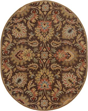 Caesar CAE-1028 8 x 10 Oval Traditional Rug in