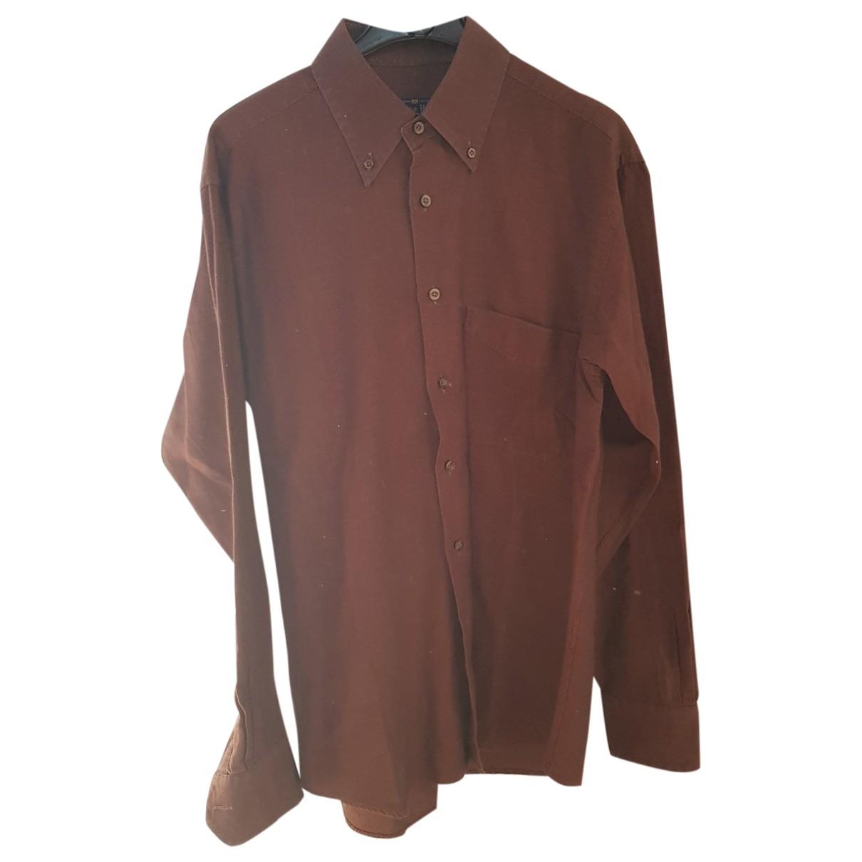 - Chemises   pour homme en coton - marron