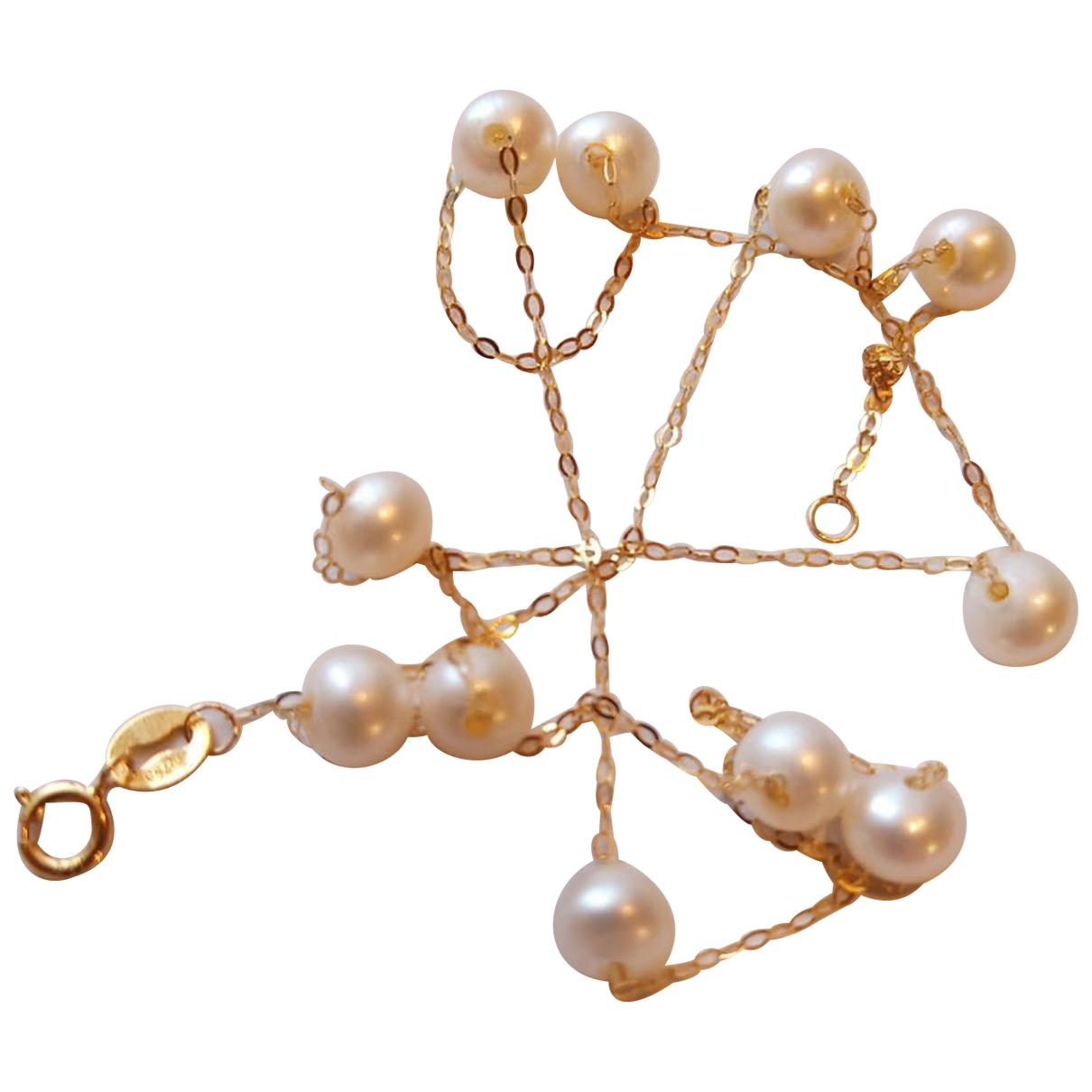 Collar Nacre de Oro amarillo Non Signe / Unsigned