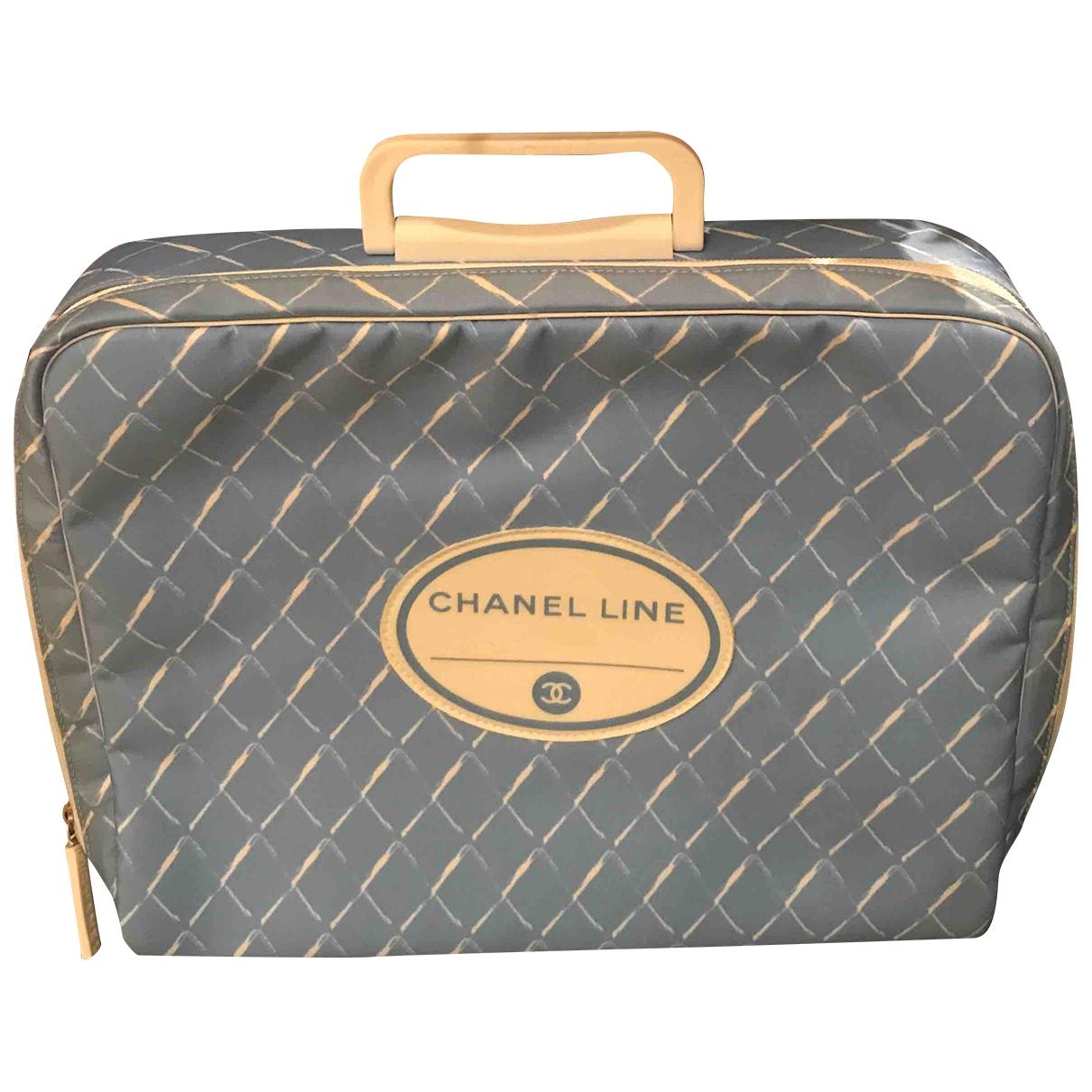 Chanel \N Reisetasche in  Blau Leinen