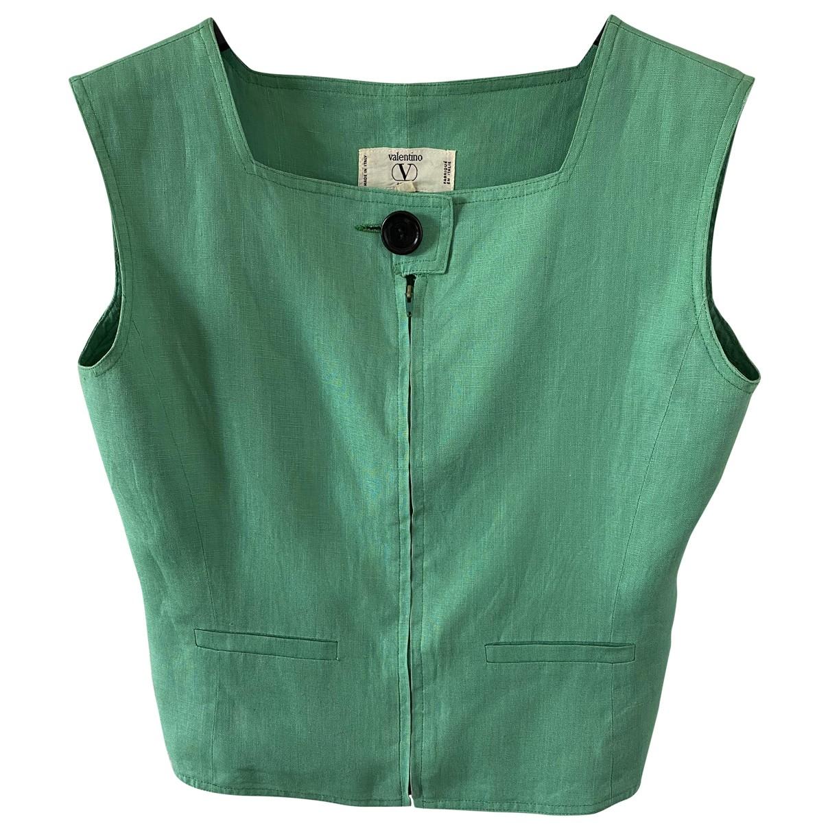 Valentino Garavani - Top   pour femme en lin - vert