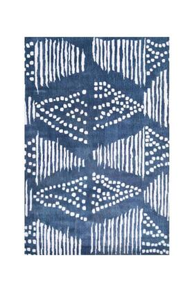44594D 5 x 8 ft. Dot Dash Area Rug  in Blue and