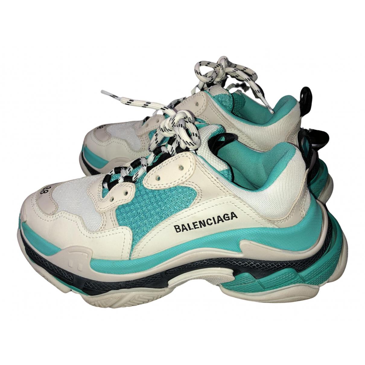 Balenciaga - Baskets Triple S pour femme - turquoise