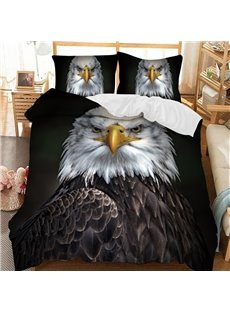 The Proud Eagle Soft 3D Printed Polyester 3-Piece Bedding Sets/Duvet Covers
