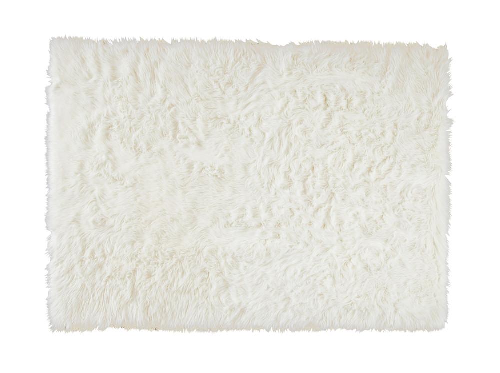 Teppich aus Kunstfell, weiss, 140 x 200