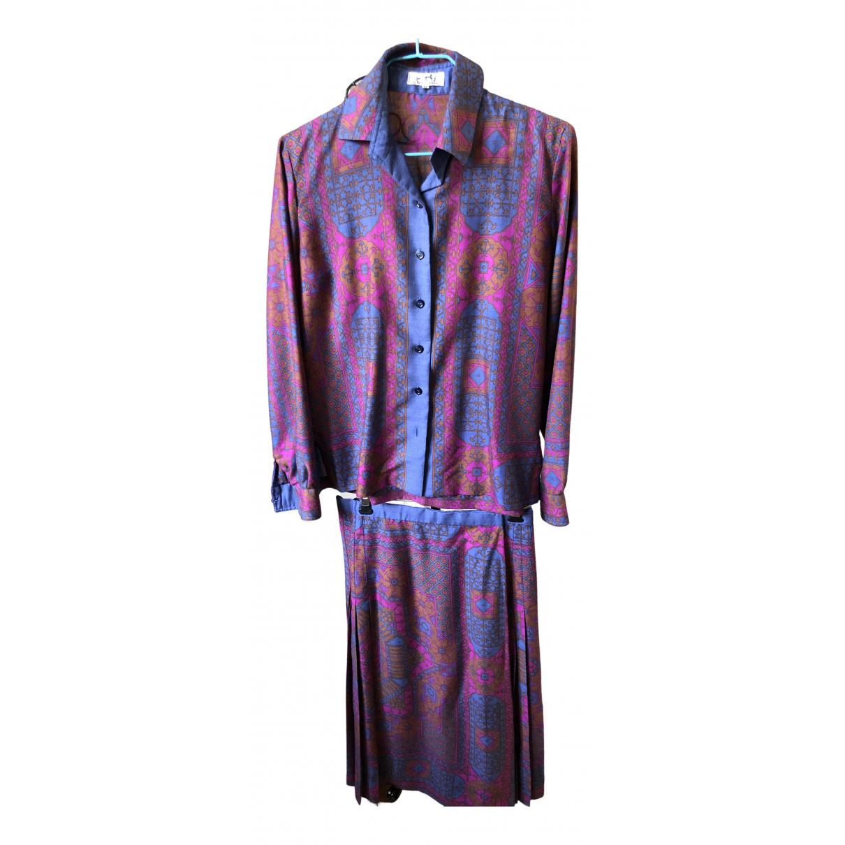 Hermes - Robe   pour femme en laine - violet