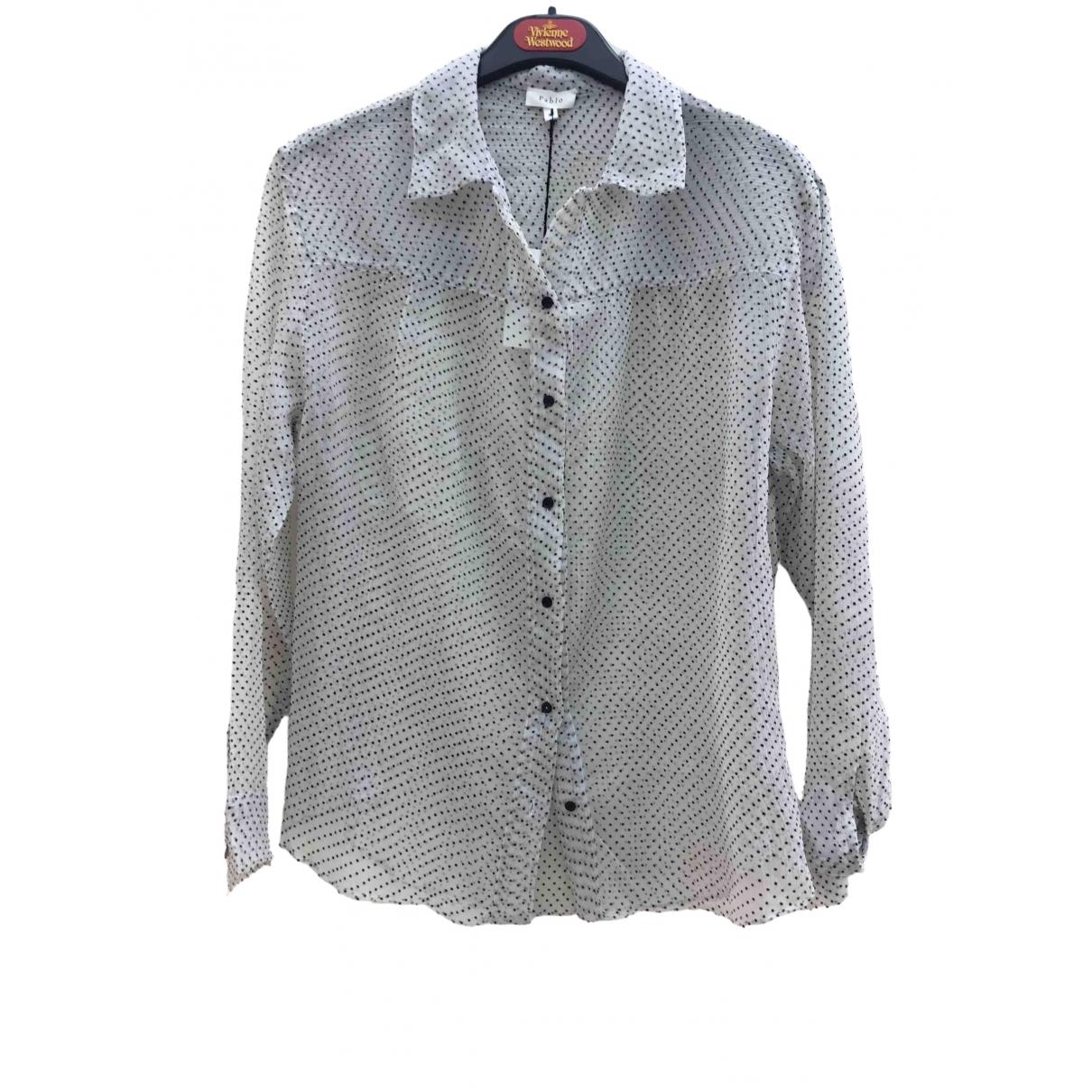 Pablo - Top   pour femme en soie - gris