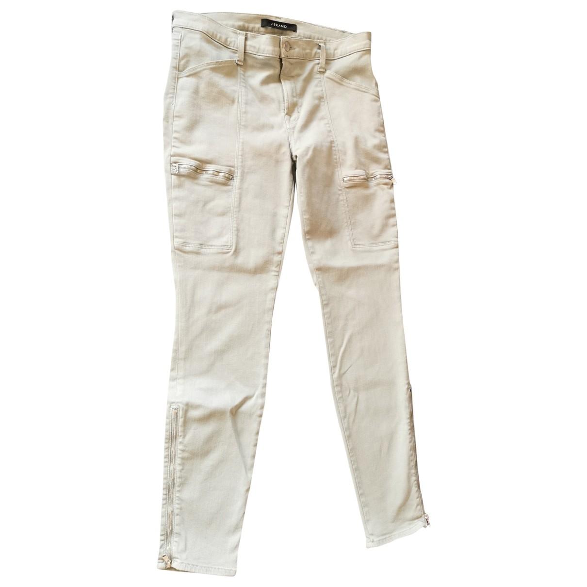 J Brand \N Green Cotton Trousers for Women 40 FR