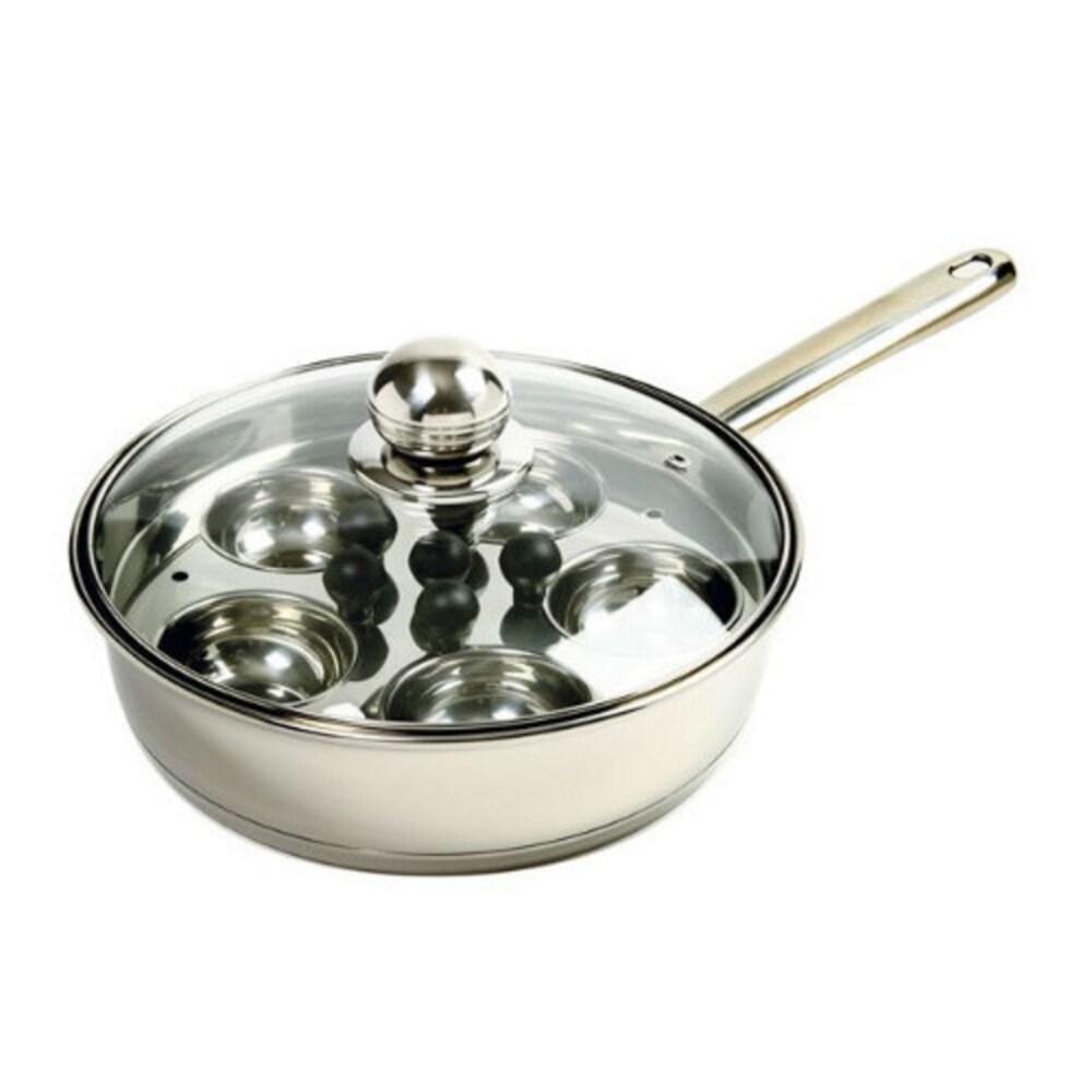 Norpro Stainless Steel Egg Poacher/Skillet Set - Silver (Silver)