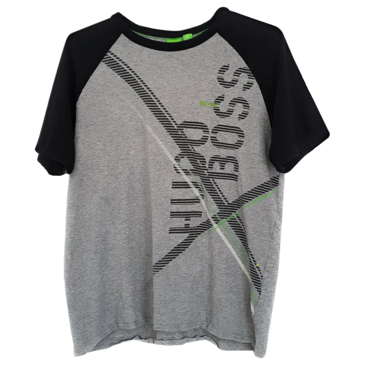 Hugo Boss - Tee shirts   pour homme en coton - gris