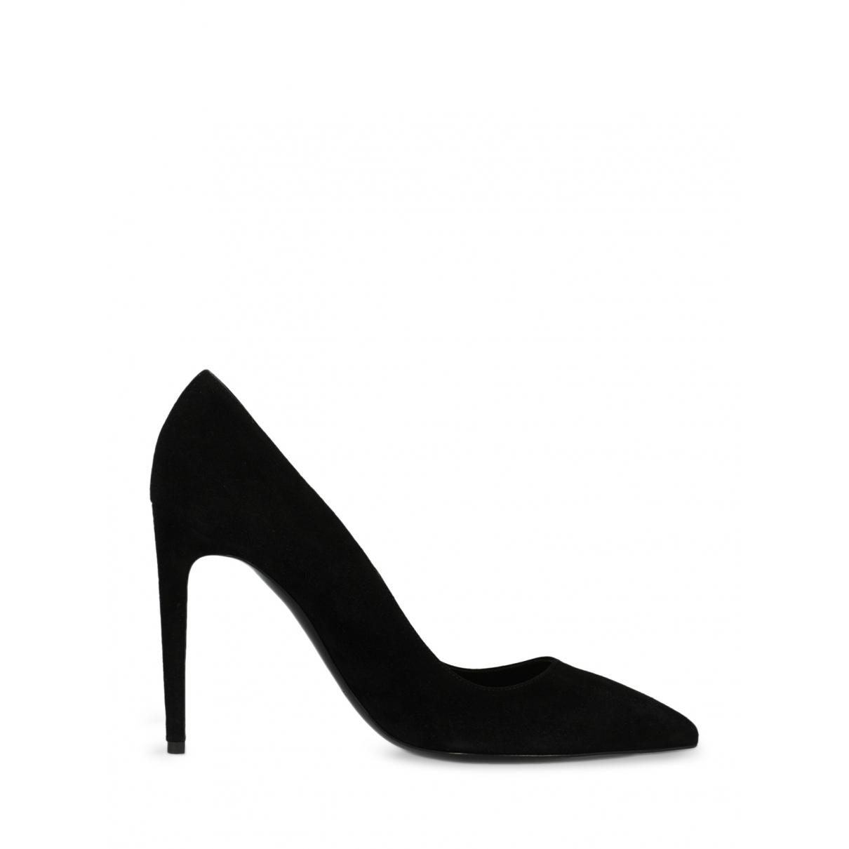 Ralph Lauren - Escarpins   pour femme en suede - noir