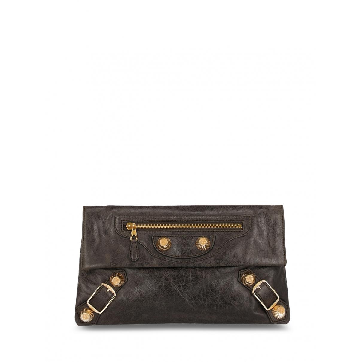 Balenciaga - Pochette Envelop pour femme en cuir - marron