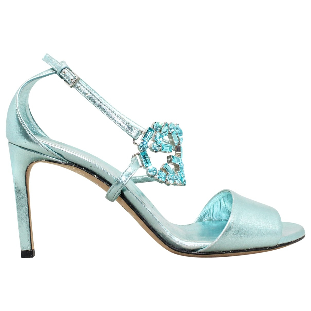 Gucci \N Blue Leather Heels for Women 36.5 EU