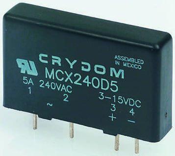 Sensata / Crydom 5 A Solid State Relay, Zero Cross, PCB Mount, SCR, 530 V Maximum Load