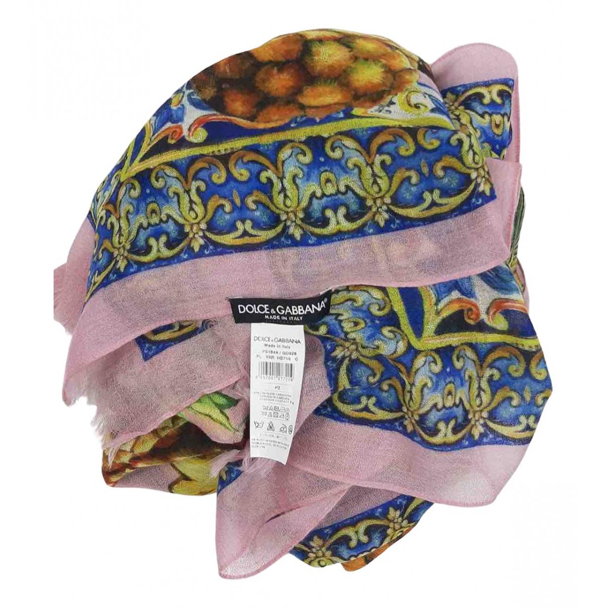 Dolce & Gabbana \N Schal in  Rosa Seide