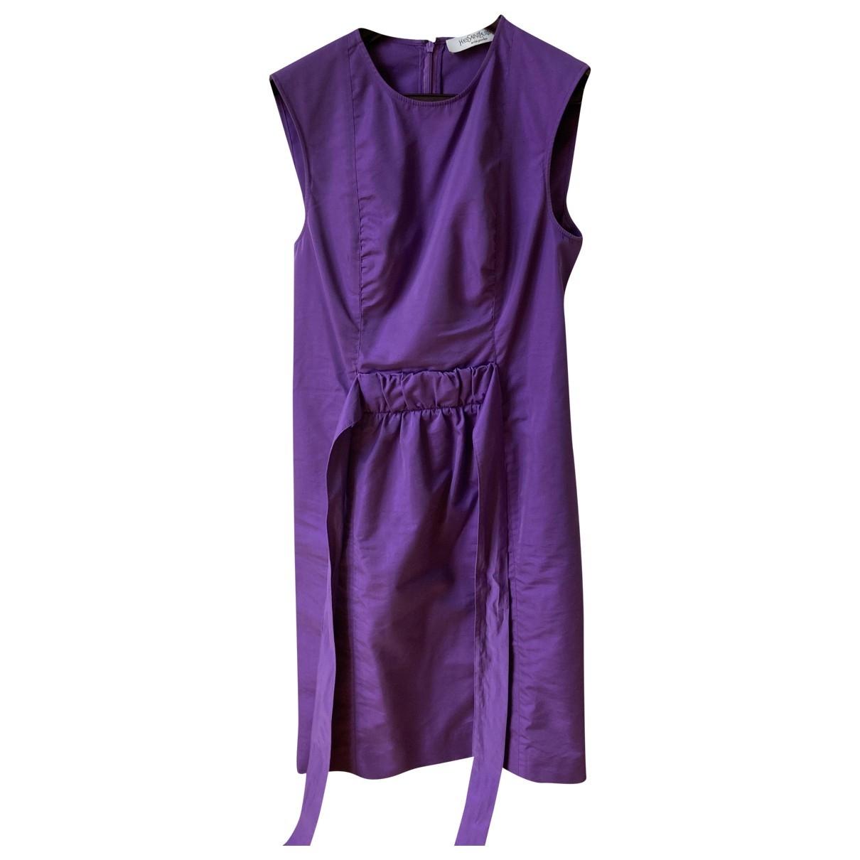 Yves Saint Laurent \N Kleid in  Lila Seide
