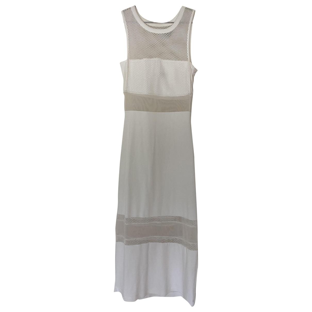French Connection - Robe   pour femme en coton - elasthane - blanc