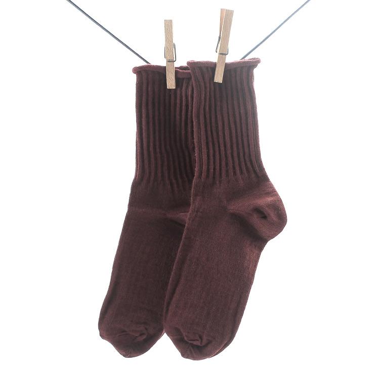 Crönert, 18429 Women's Wool Long Socks, burgundy Größe 35-38
