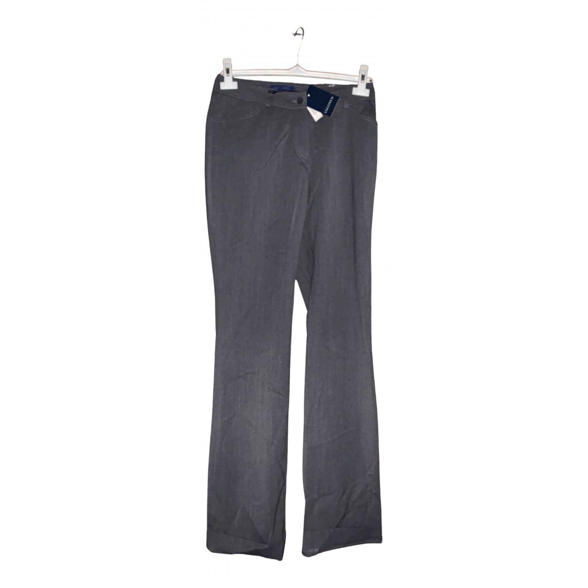 Incotex N Grey Wool Trousers for Women 42 IT