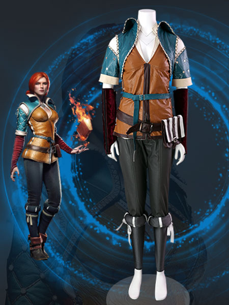 Milanoo The Witcher Triss Halloween Cosplay Costume