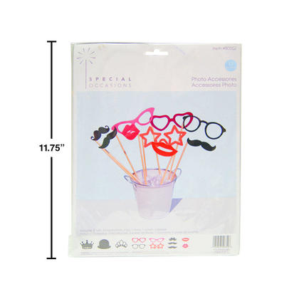 Wedding Photo Booth Props Kit Accessories 17Pcs