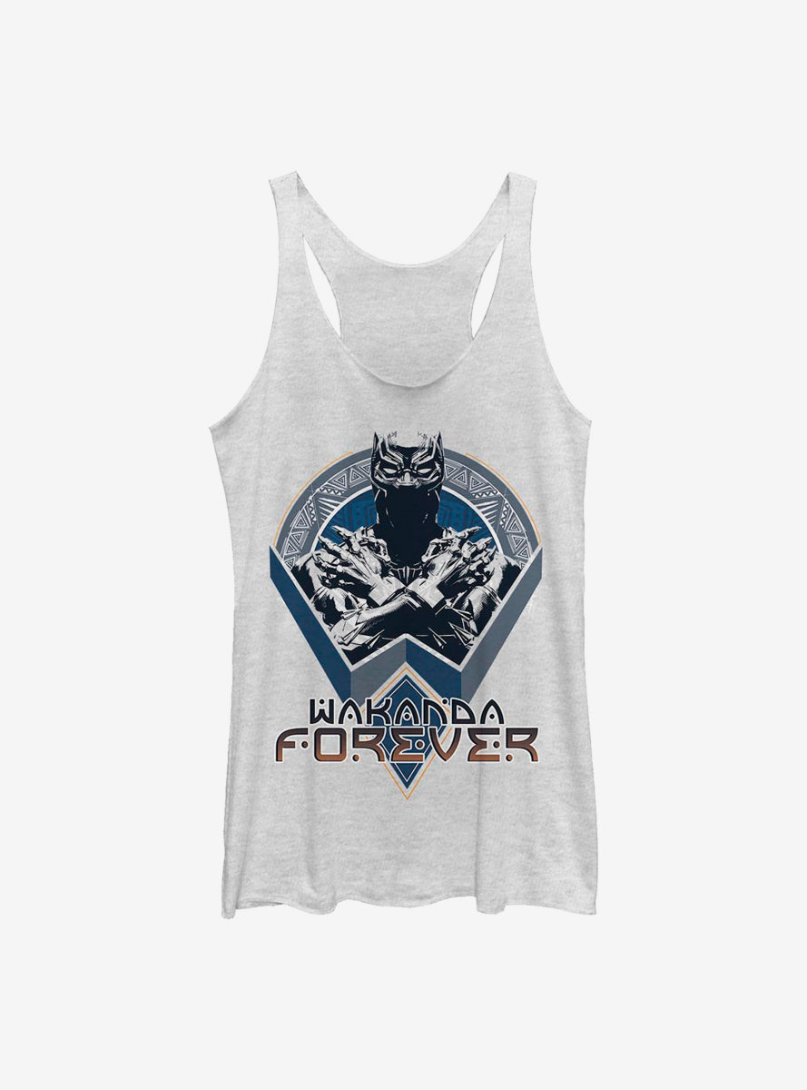 Marvel Black Panther Wakanda Shield Womens Tank Top
