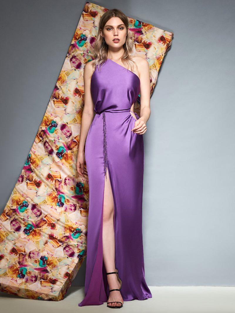Ericdress Sheath One Shoulder Split Side Evening Dress