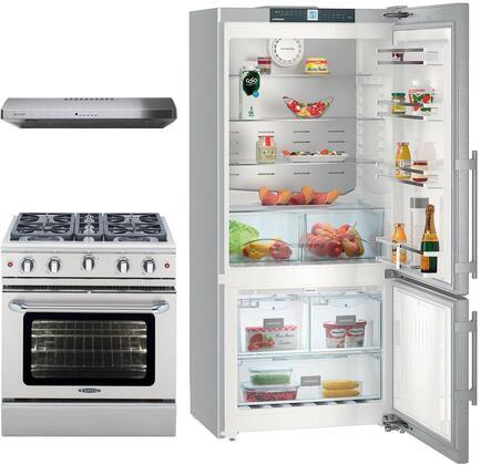 3-Piece Apartment Size Kitchen Appliances Package with CS1400RIM 36
