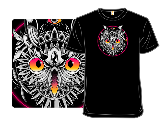 Retrowave Owl T Shirt