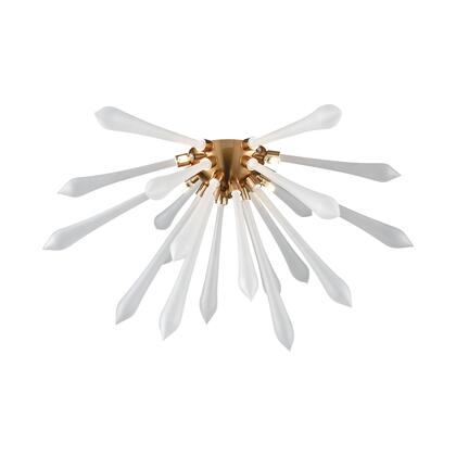 D4146F Spiritus Flush Mount - Frosted  In Frosted Glass  Aged