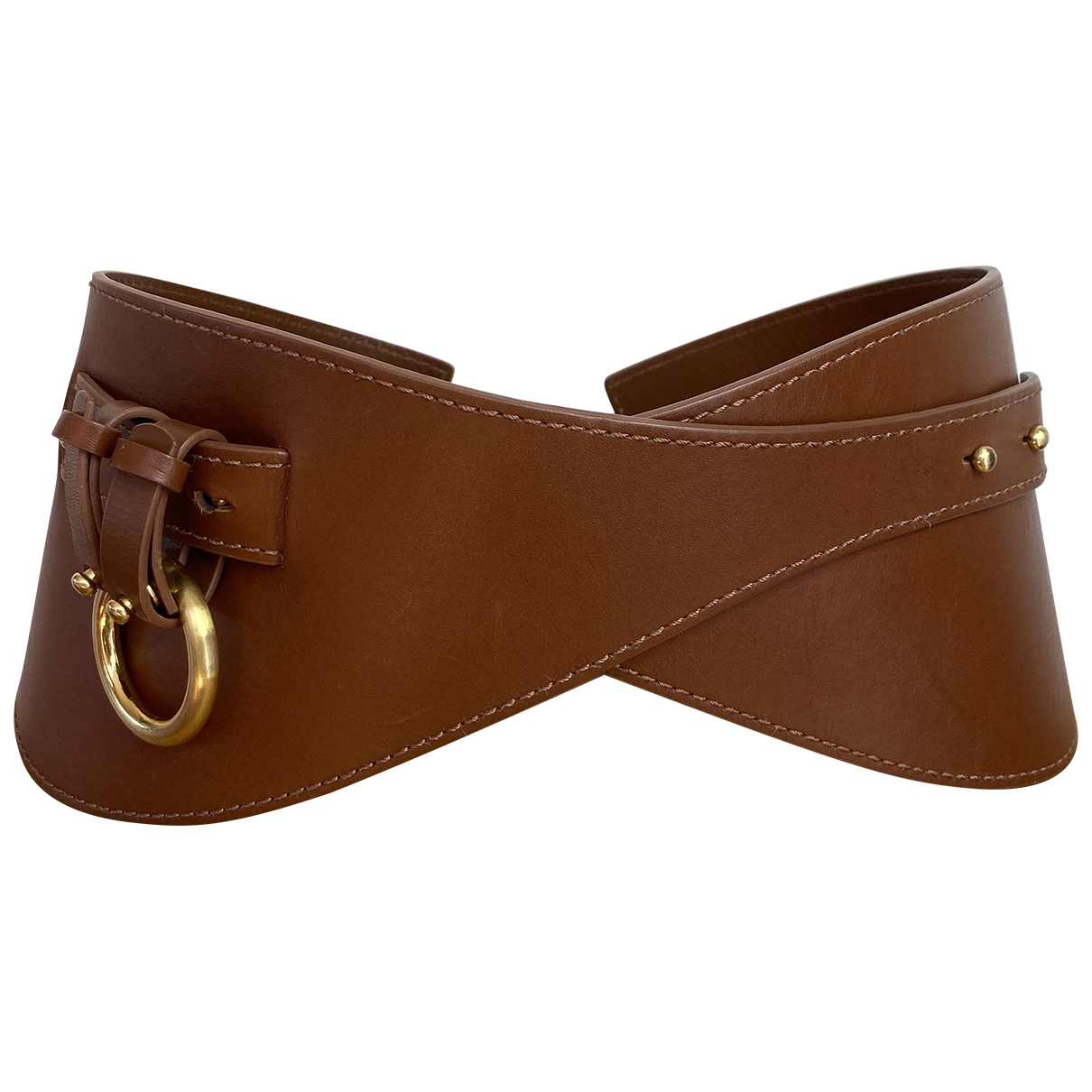 Zimmermann \N Brown Leather belt for Women XS International