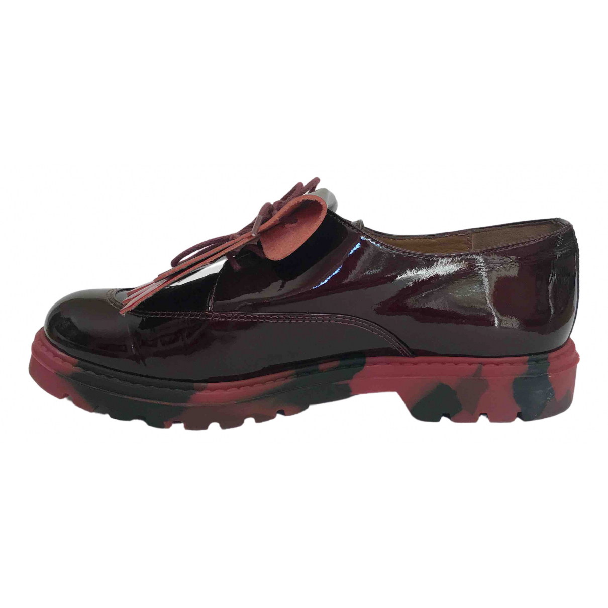 Mellow Yellow \N Burgundy Leather Lace ups for Women 38 EU