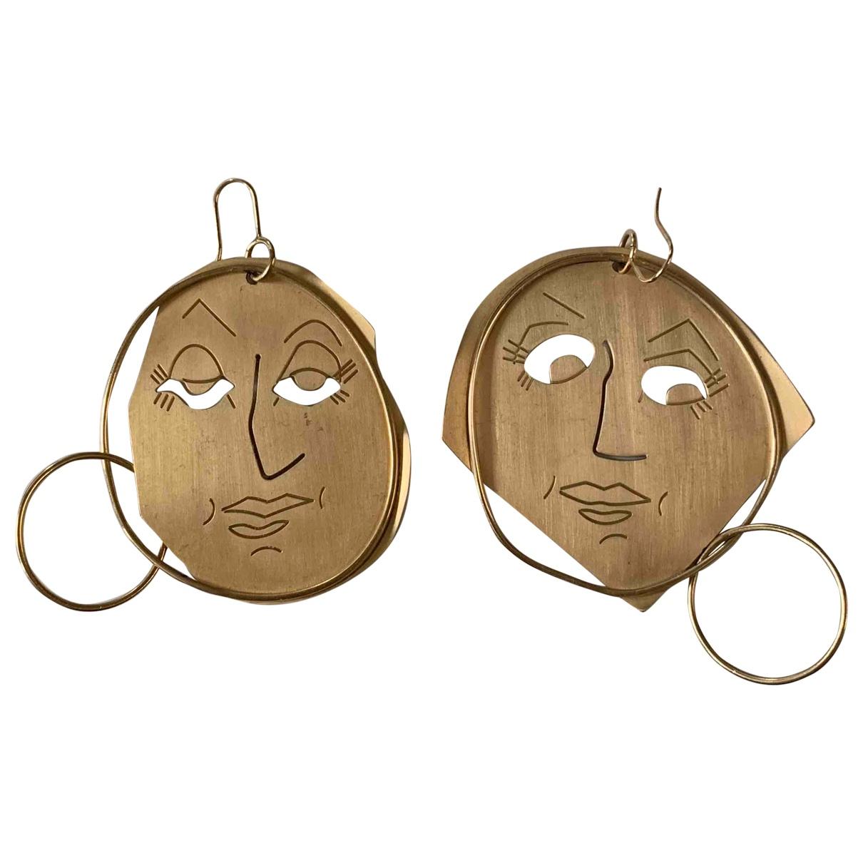 J.w. Anderson \N Gold Metal Earrings for Women \N