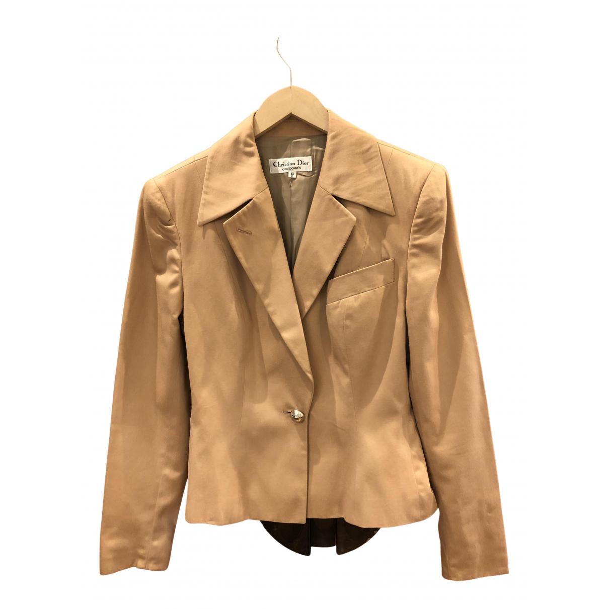 Dior N Camel Cotton jacket for Women 38 FR