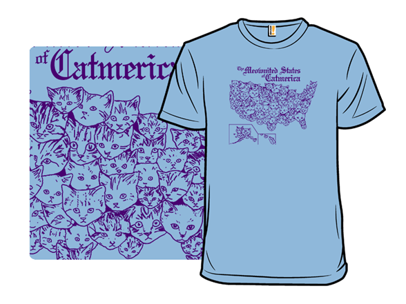 Meownited States Of Catmerica T Shirt