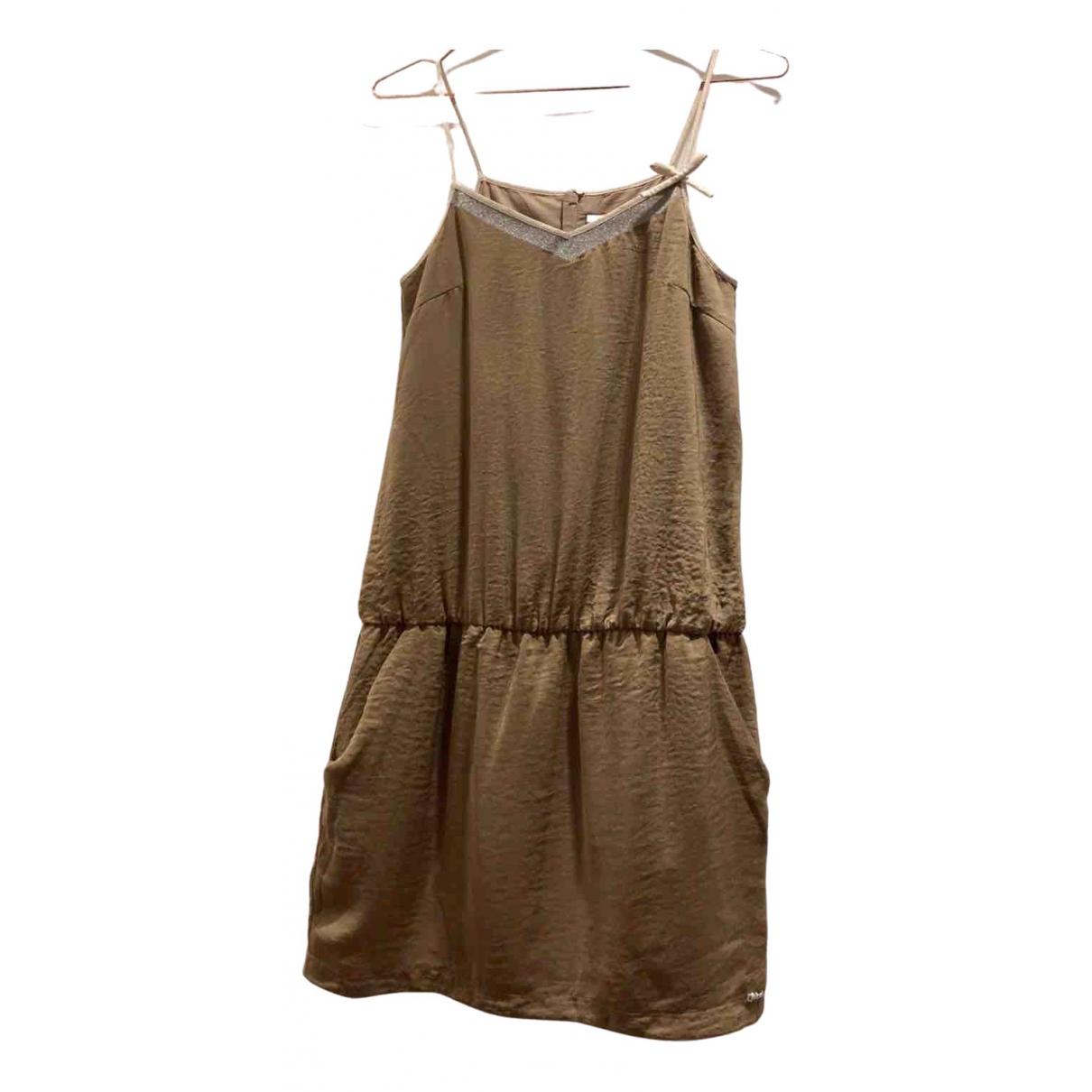 Chloe \N Kleid in  Khaki Viskose