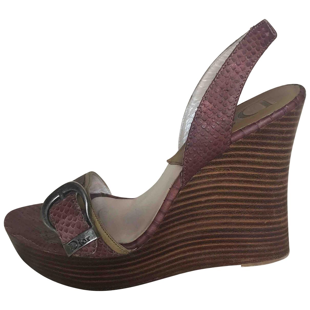 Dior - Sandales   pour femme en python - rose