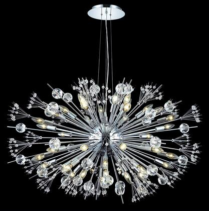 3400G46C/EC 3400 Cyclone Collection Large Hanging Fixture D46in H25.5in Lt: 44 (Elegant Cut
