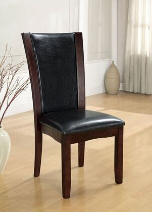 Manhattan I Collection CM3710SC-2PK Set of 2 Side Chair with Padded Leatherette in