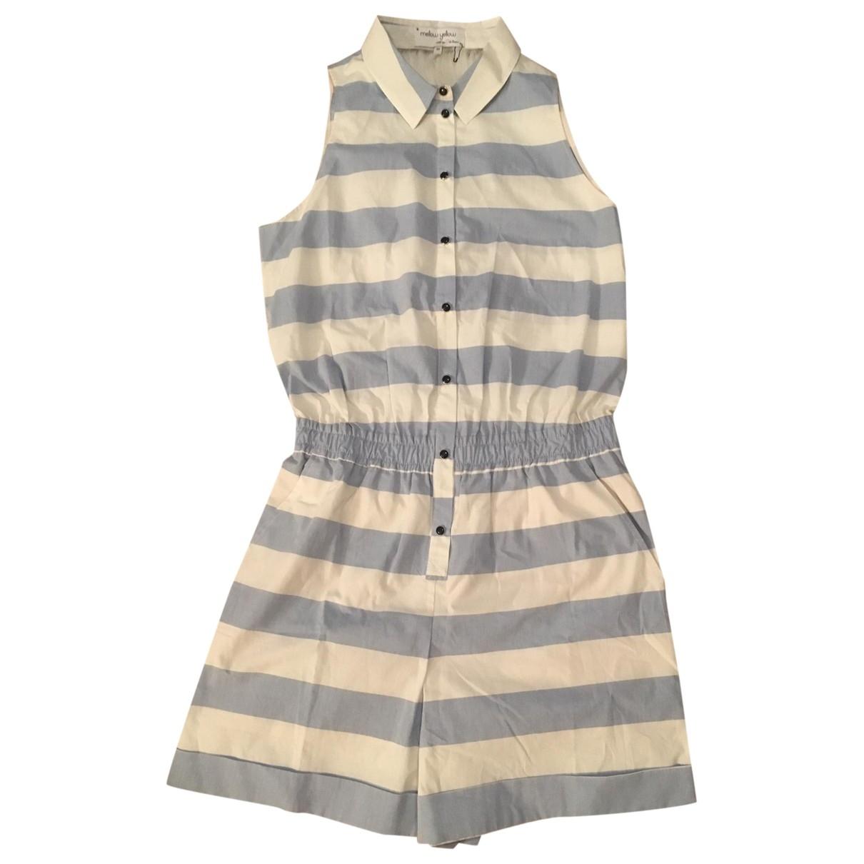 Mellow Yellow \N Blue Cotton jumpsuit for Women 38 FR