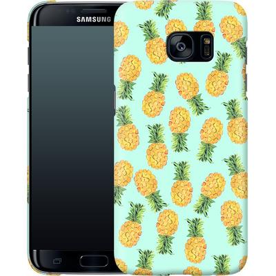 Samsung Galaxy S7 Edge Smartphone Huelle - Pineapple von Amy Sia