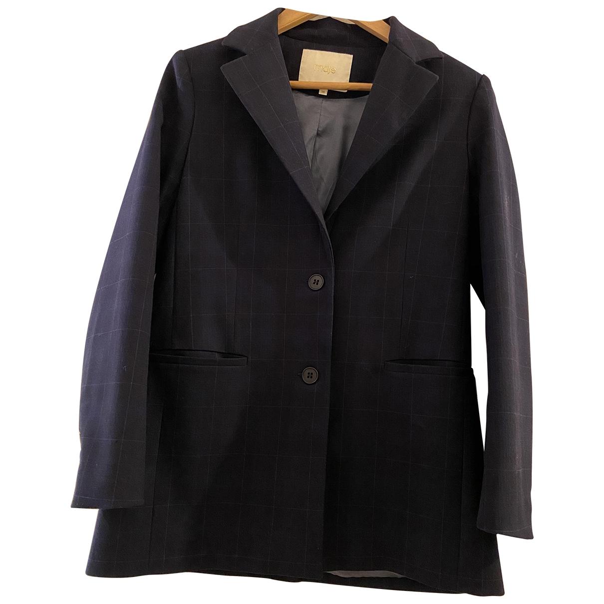 Maje Spring Summer 2019 Navy jacket for Women 38 FR