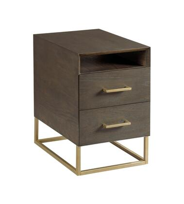 Essence Collection 678-917 Charging Chairside Table in Fumed