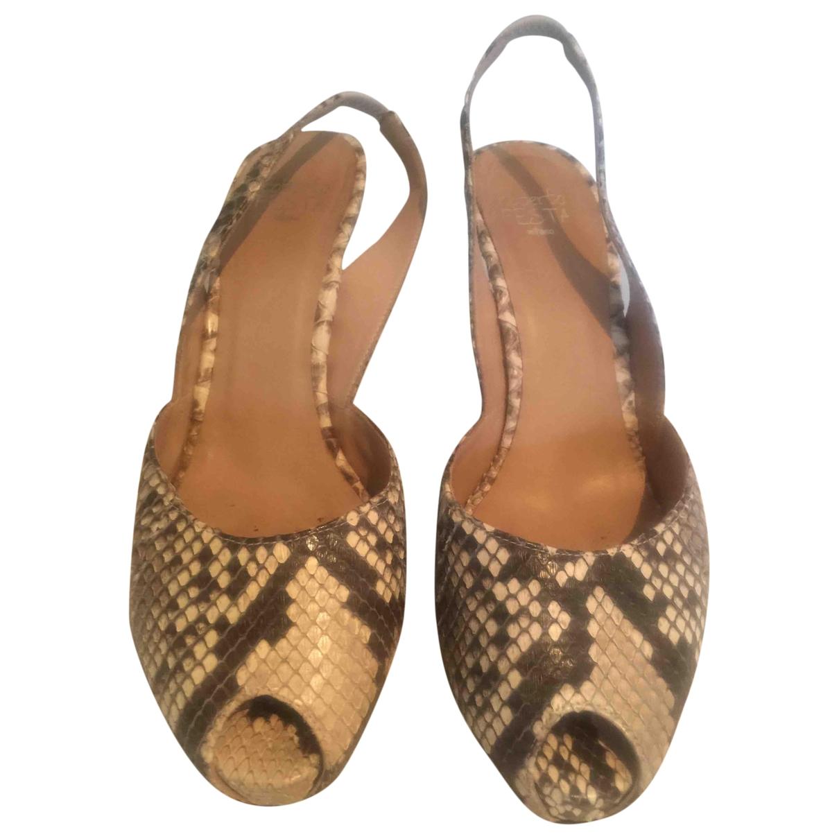 Roberto Festa - Escarpins   pour femme en python - beige