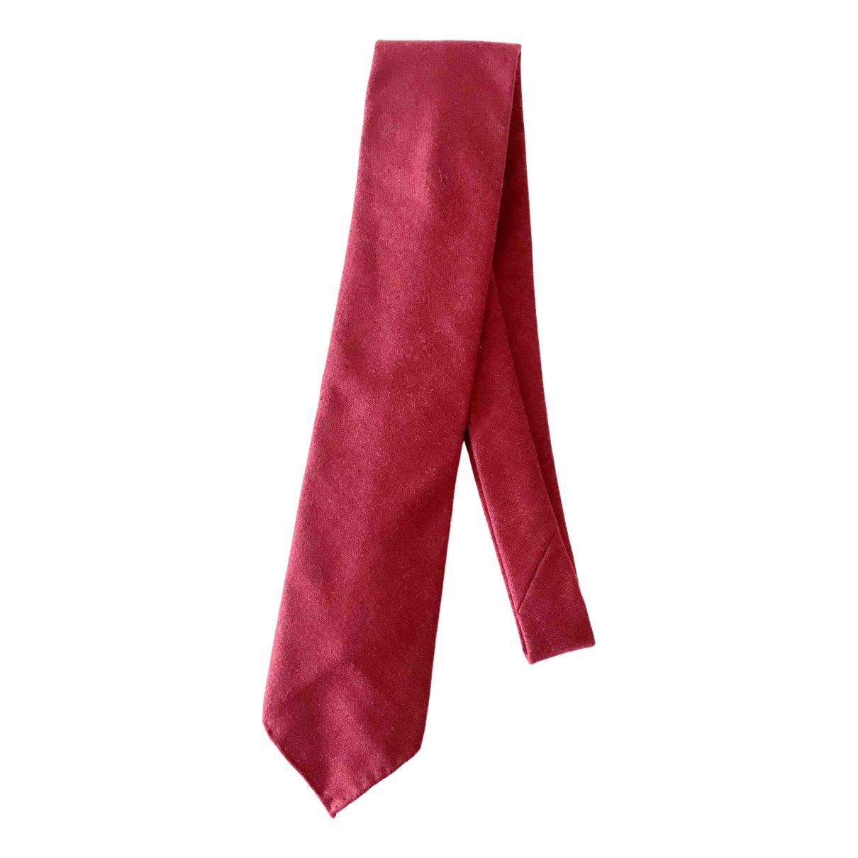 Hermès \N Red Cotton Ties for Men \N