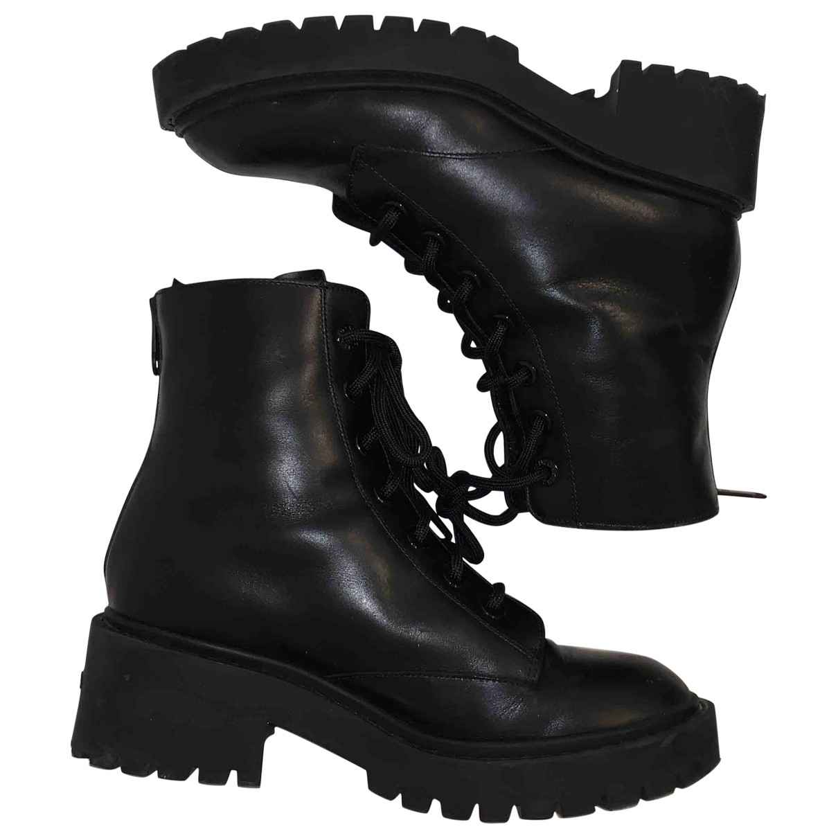 Kenzo \N Stiefel in  Schwarz Leder