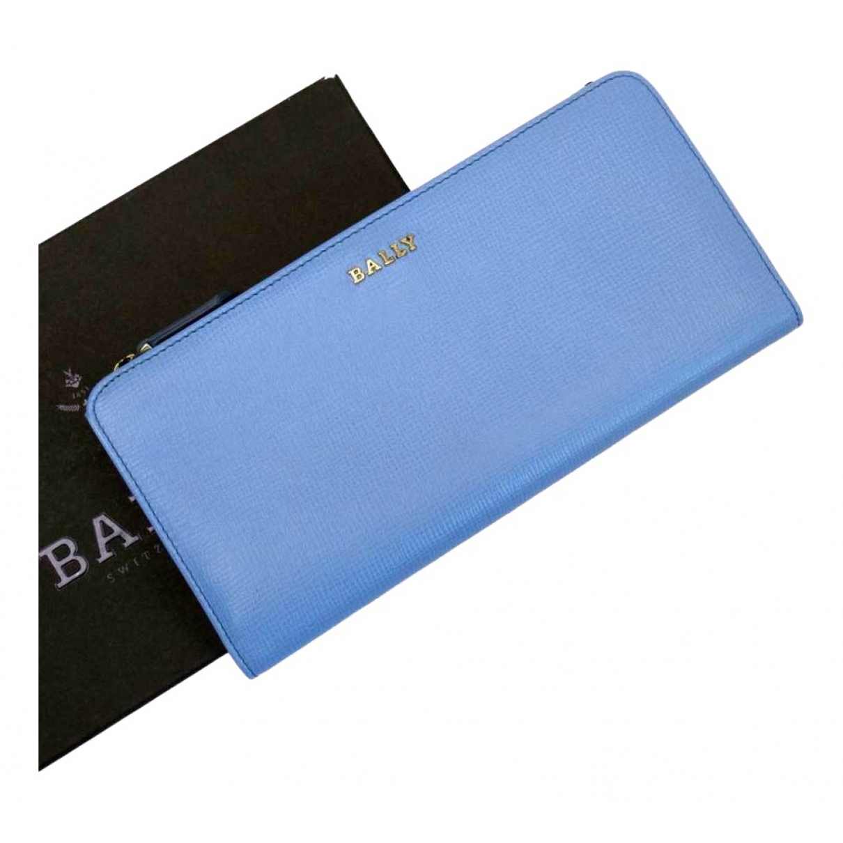 Bally \N Portemonnaie in  Blau Leder